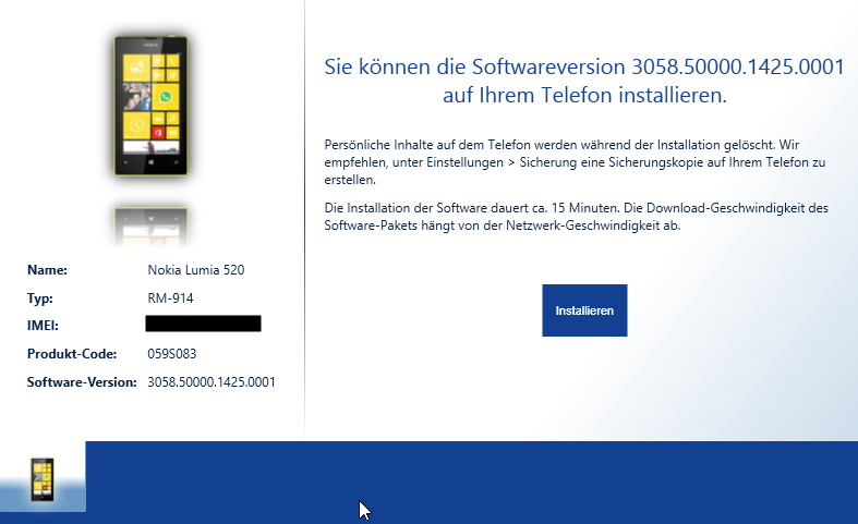Nokia Software Recovery Tool Update found